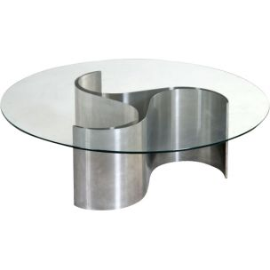 Vintage Comet coffee table by Patrice Maffei for Kappa, 1970