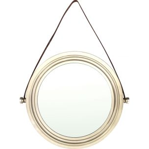 Vintage Italian wall mirror in Brass and Brushed nickel, 1960s