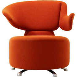 "Cassina ""Canta"" armchair in orange fabric, Toshiyuki KITA - 2000s"