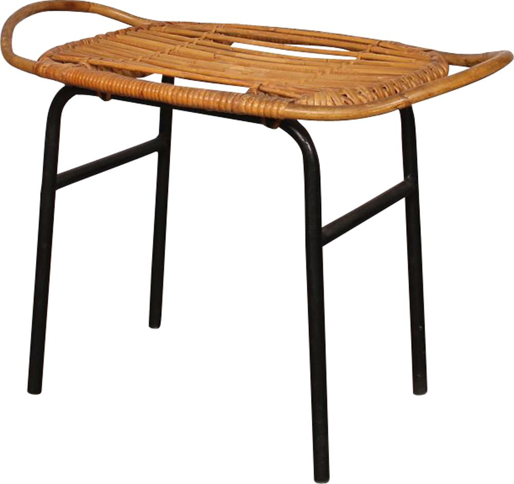 Magnificent Vintage Wicker Stool By Alan Fuchs For Uluv 1960 Design Market Gmtry Best Dining Table And Chair Ideas Images Gmtryco