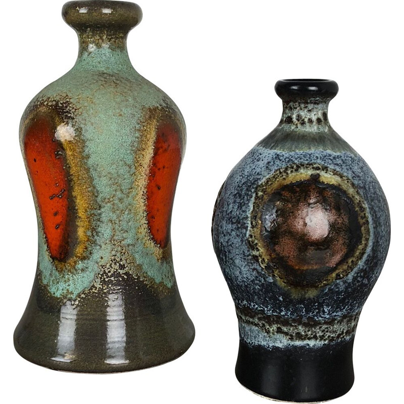 Set of 2 ceramic pottery vases by Dümmler and Breiden, Germany, 1950