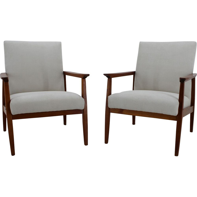 Vintage pair of Archmchairs by Jiroutek, 1960s