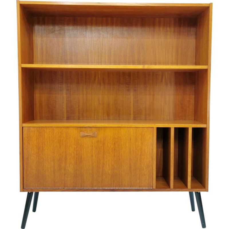 Vintage teak bookcase, by Clausen & Son, Denmark, 1970s