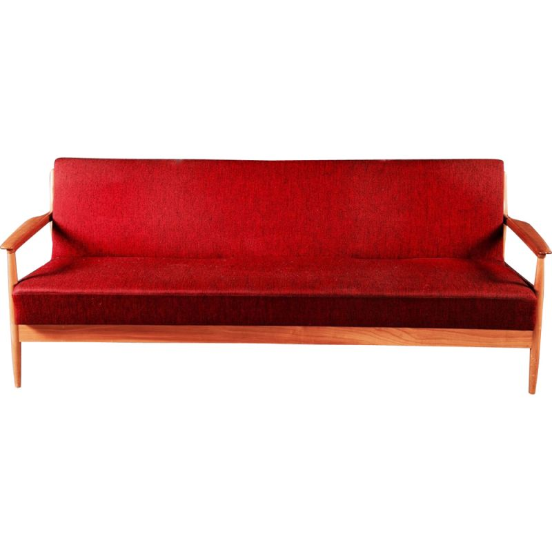 Convertible red vintage lounge set, by Casala, 1950s