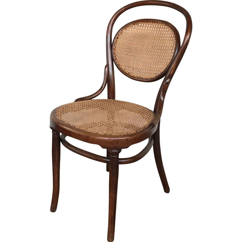 Vintage Chair Thonet No. 11 in canning, France 1890-1900
