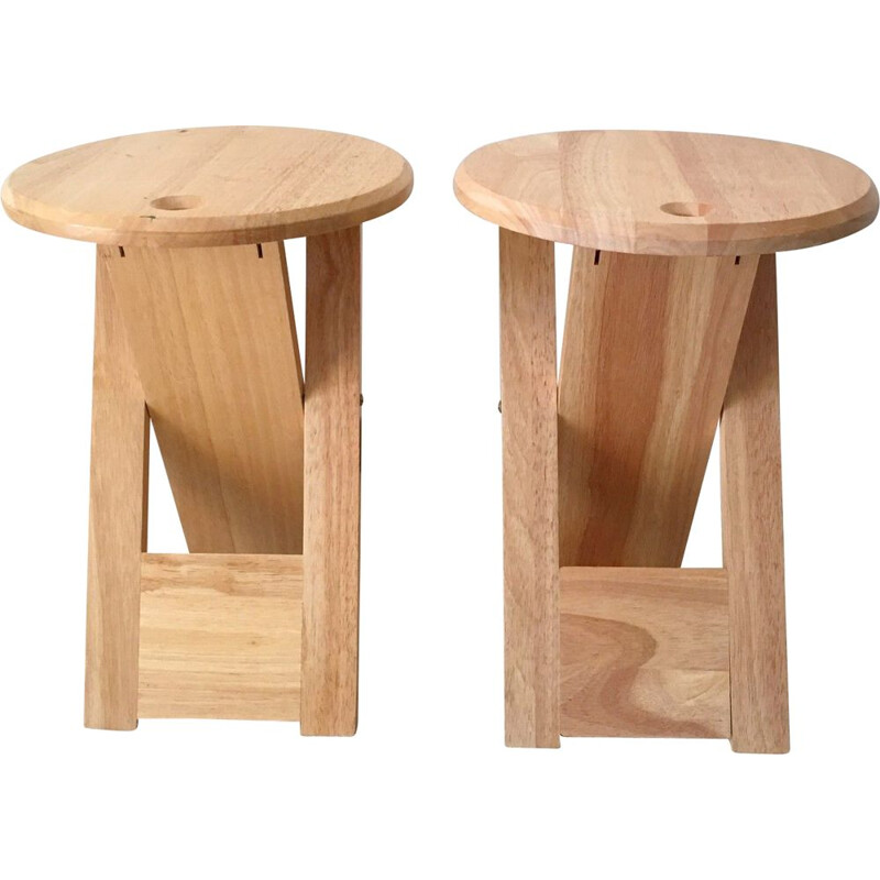 "Set of 2 vintage stools ""Suzy"" by Artefact, 1980s"