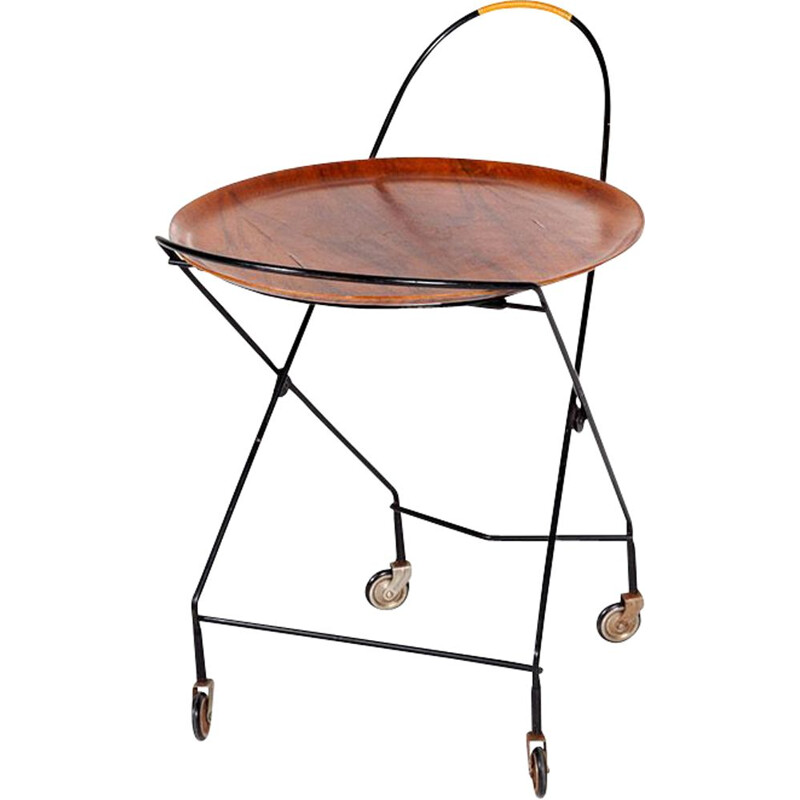 Vintage teak serving trolley from Ary Fanérprodukter Nybro, 1950