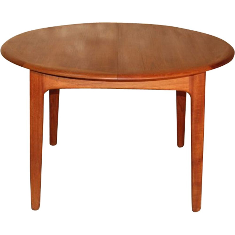 Expandable scandinavian vintage teak dining table by Svend Aage Madsen for Knudsen & Son, 1960s