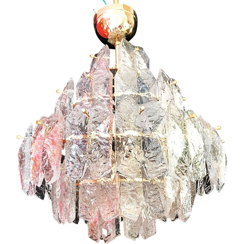 Vintage chandelier by Palwa in ice frost, 1970s