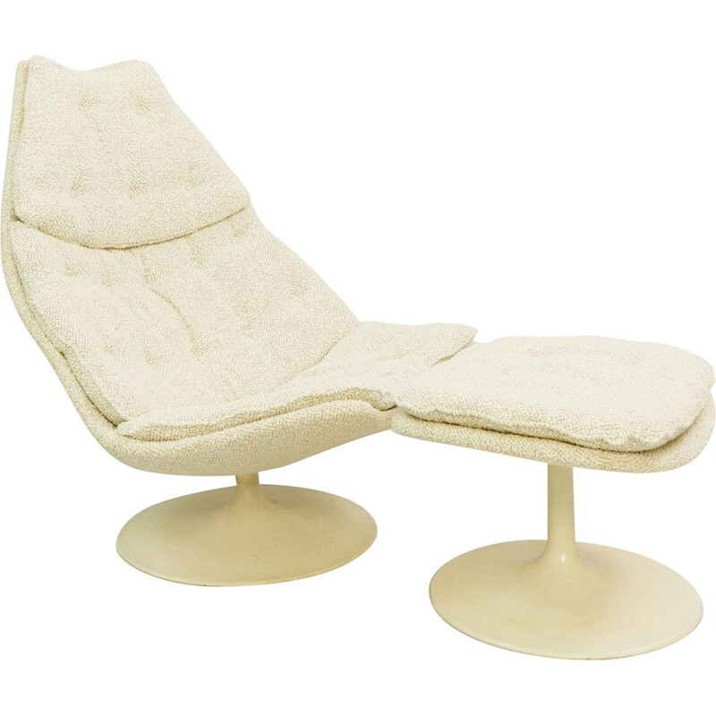 Lounge Chair F588, Geoffrey Harcourt F588 for Artifort with Ottoman