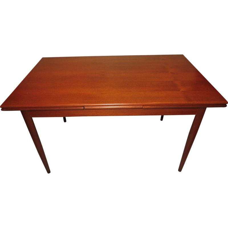 Expandable vintage dining table by Johannes Andersen's by Silkeborg Mobelfabrik, 1960s