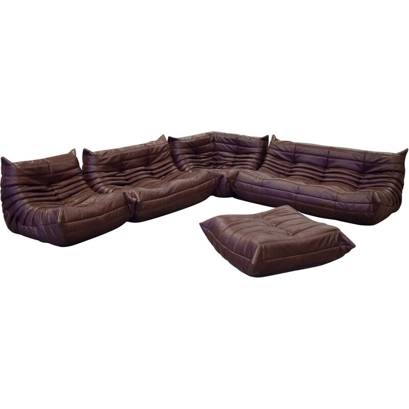 "Vintage ""Togo"" lounge set by Michel Ducaroy for Ligne Roset, 1970s"