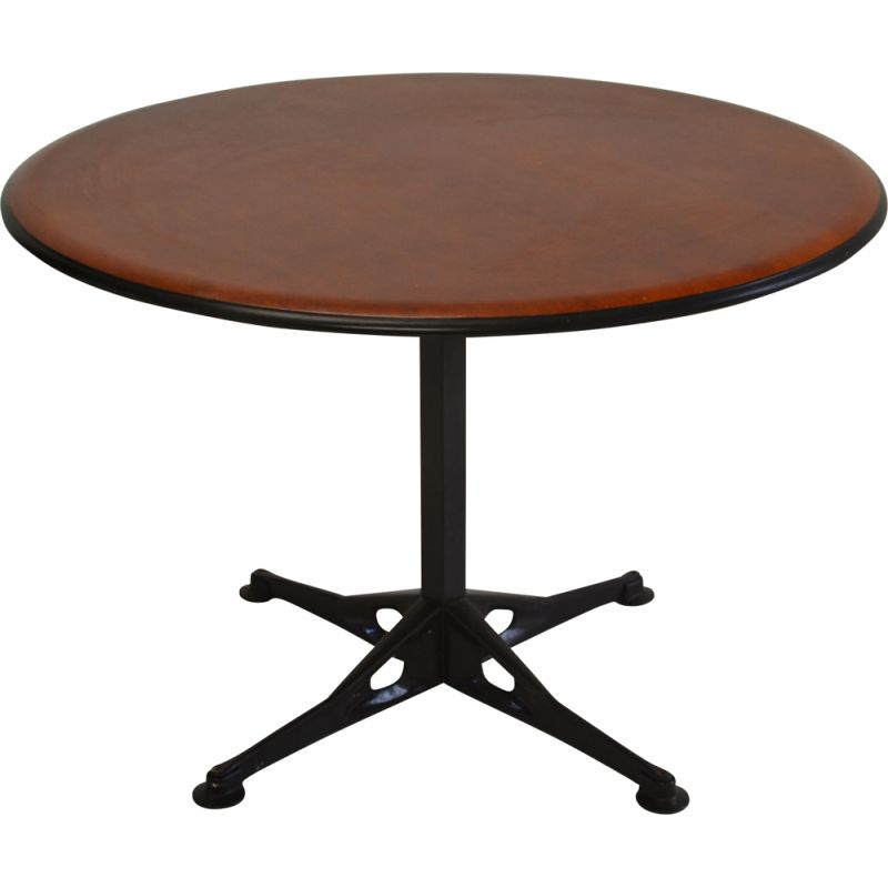 Vintage metal and mahogany dining table by Herman Miller