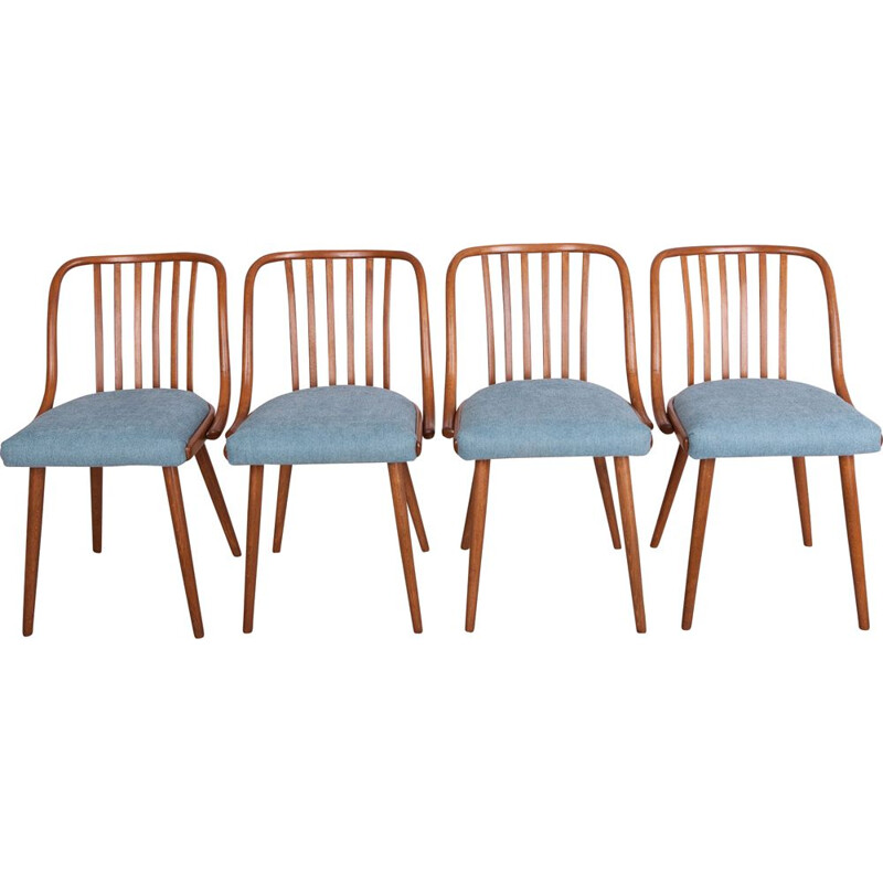 Set of 4 vintatge dining chairs by Antonin Suman for Ton, 1960