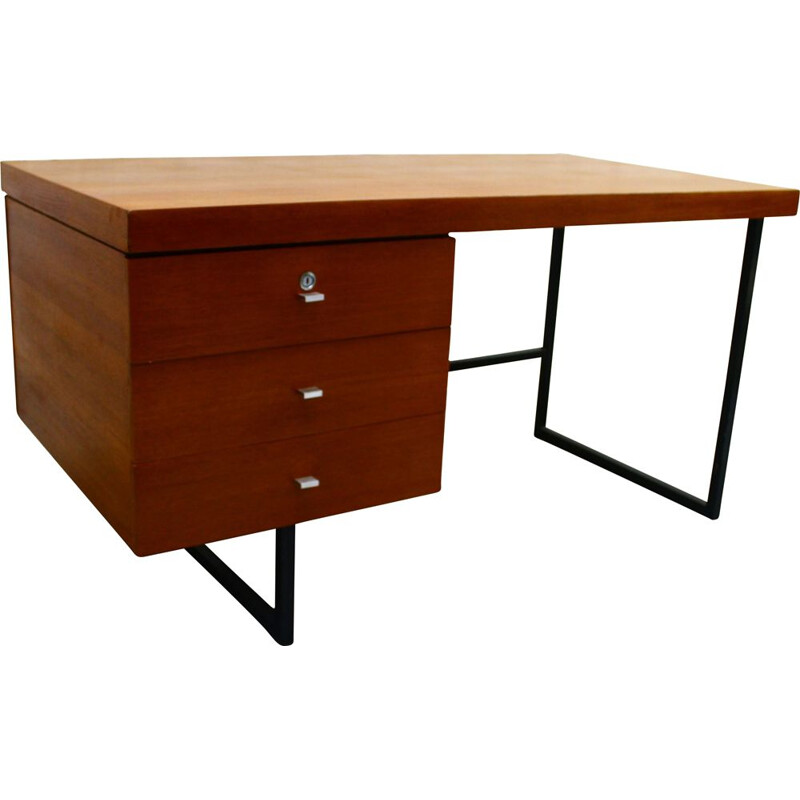 Vintage wooden desk by Pierre Guariche 1970