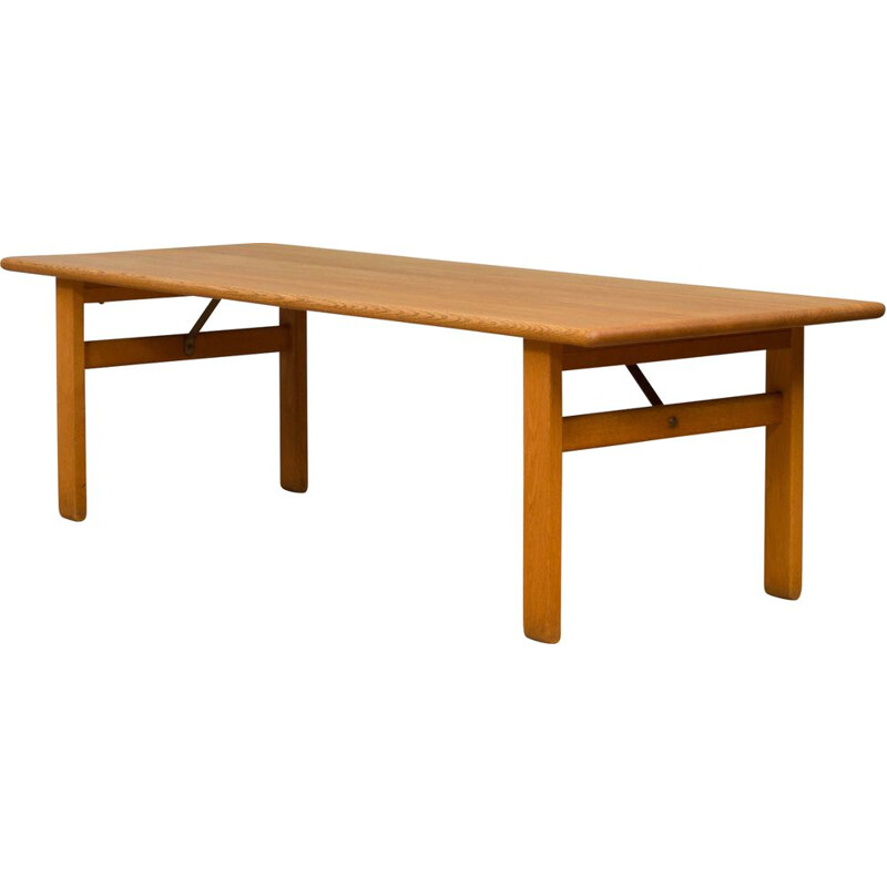 Vintage extra long oak coffee table Borge Mogensen 1960