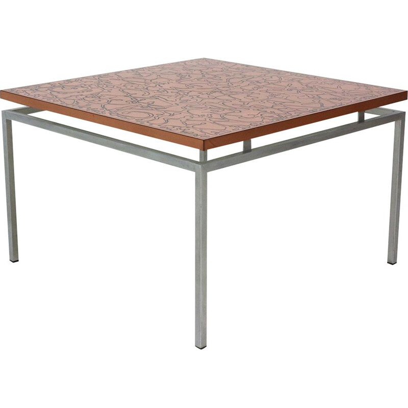 Copper vintage coffee table, 1960s