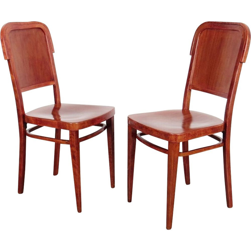 2 dining chairs produced by Jan Kotera 1930
