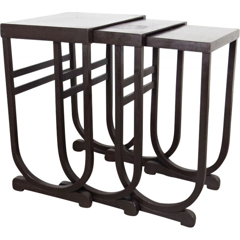 Nesting table, produced by Fischel 1930s