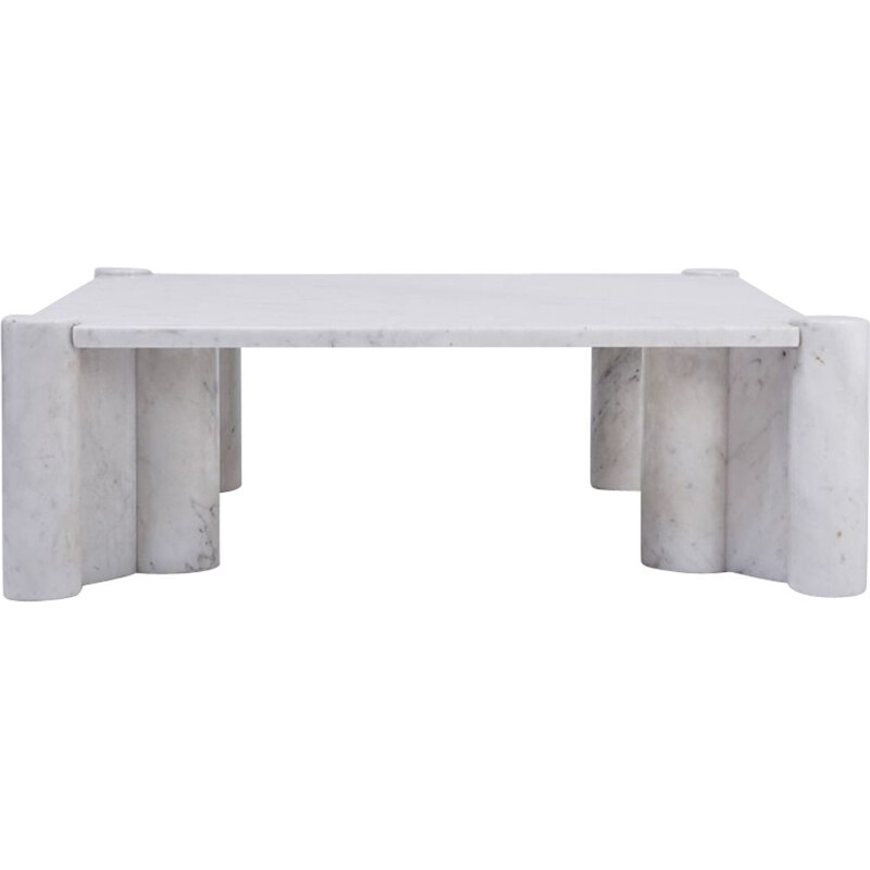 Vintage white marble coffee table model Jumbo by Gae Aulenti for Knoll International, 1964