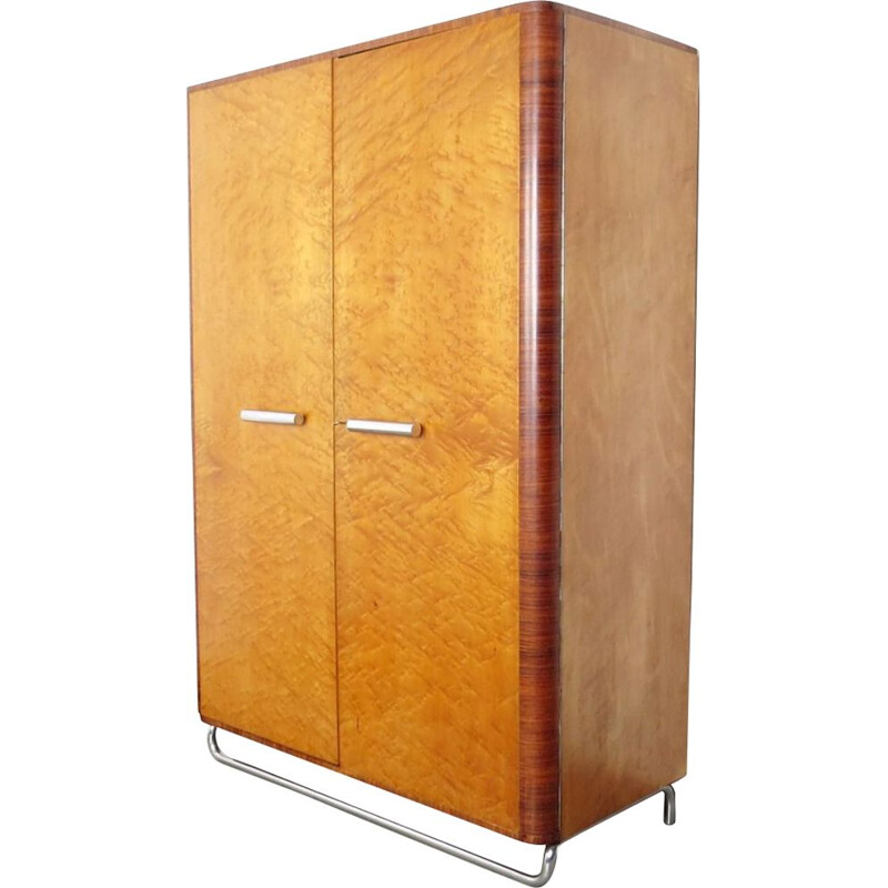 Vintage wardrobe in wood 1930s