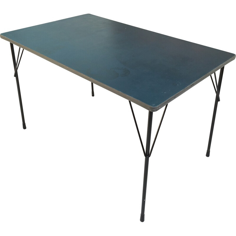 Gispen 3705 dining table in linoleum, Wim RIETVELD - 1950s