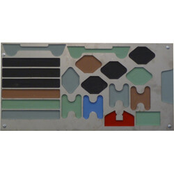 Wall decoration in steel and lacquer - 1960s