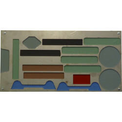 Vintage wall decoration in steel and lacquer - 1960s