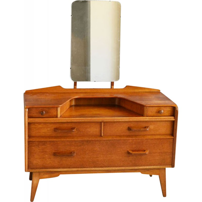 Vintage G plan dressing table in teak - 1950s