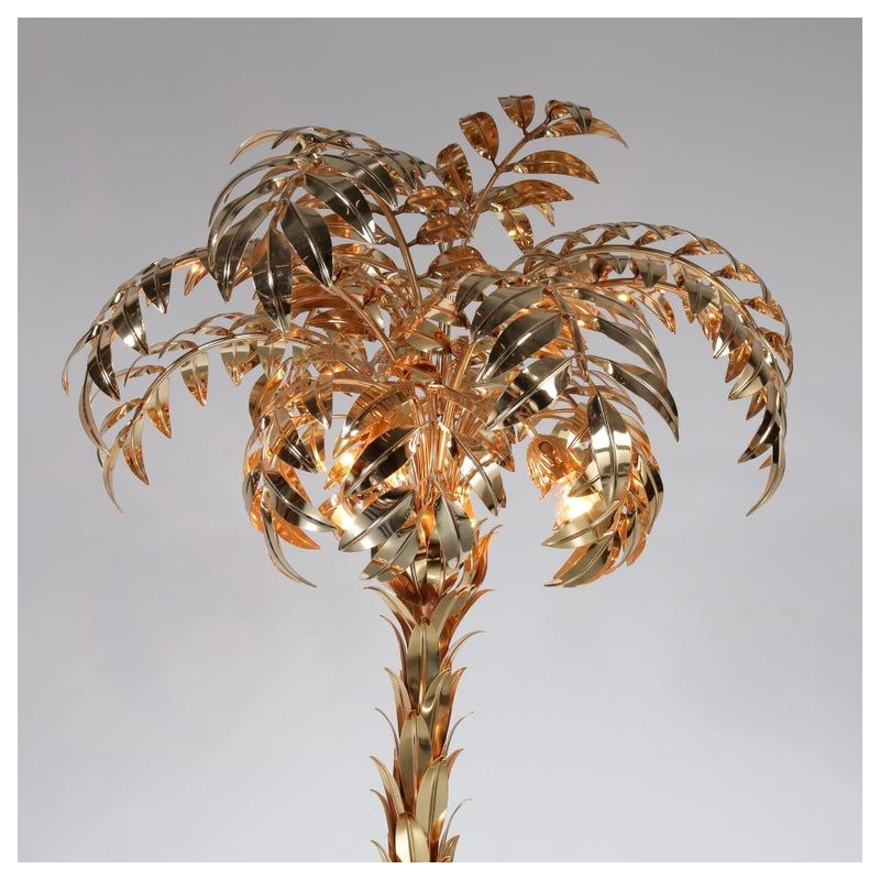 Vintage Palm Tree Floor Lamp By Hans Kogl Germany 1970