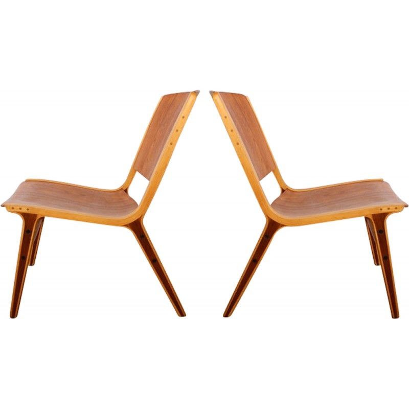 Fritz Hansen Pair Of AX Chairs, Peter HVIDT U0026 Olga MOLGAARD   1950s