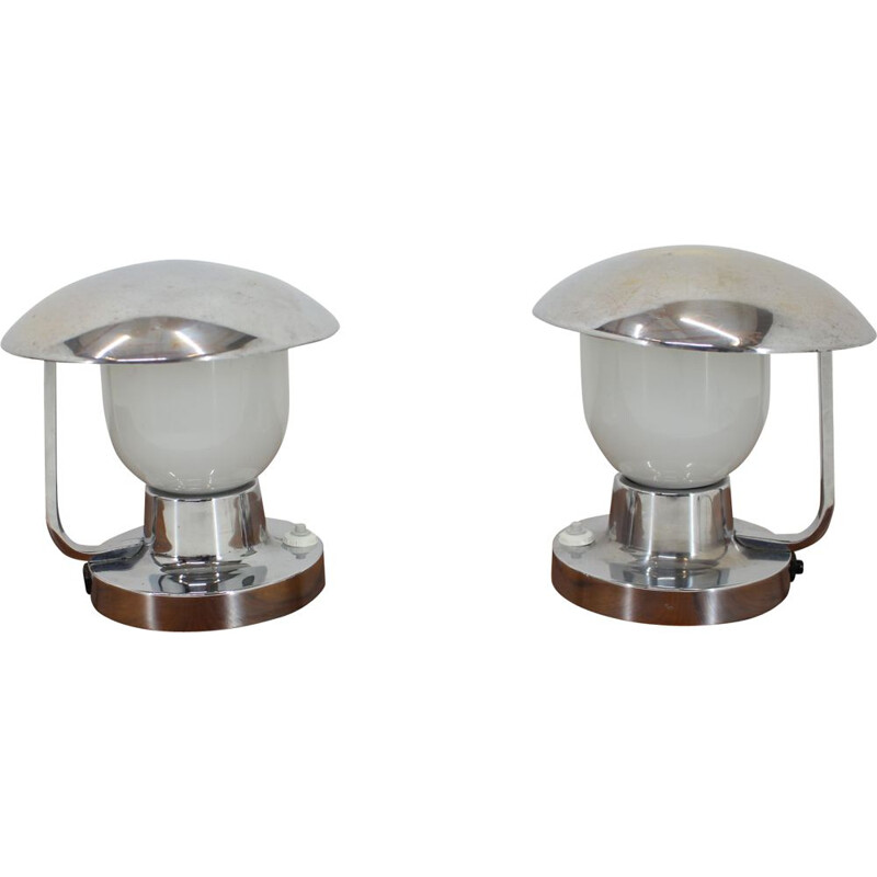 Set of two vintage table lamps by Napako, 1950