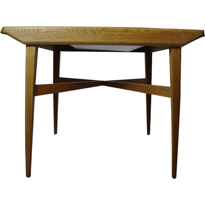Vintage Lebus wooden extendible table, 1960s