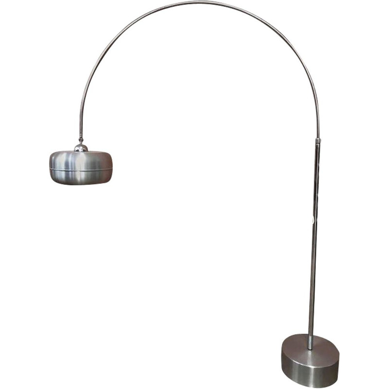 Vintage adjustable floor lamp in steel, 1970s
