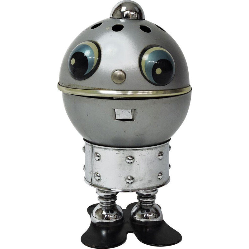 Vintage robot lamp by Satco, Italy, 1970s