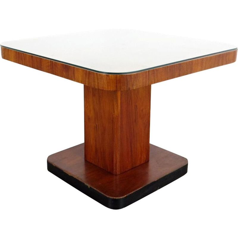 Vintage dining table in wood, Czechoslovakia