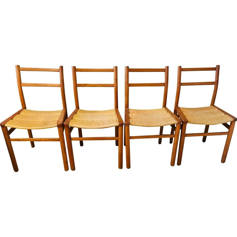 "Set of 4 vintage chairs ""Week End"" by Pierre Gautier Delaye, 1960s"
