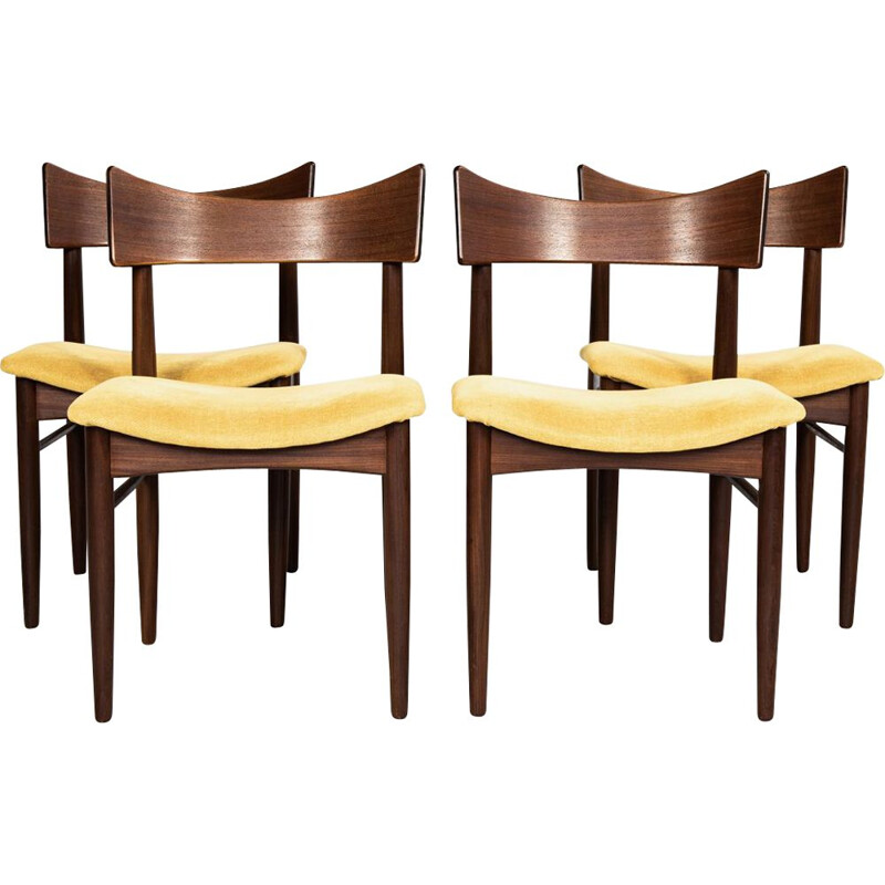 Set of 4 vintage Danish chairs in teak 1960