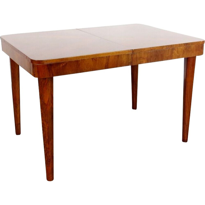 Vintage extendable Dining table by Jindrich Halabala 1940