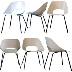 Set of 6 Tulip chairs, Pierre GUARICHE - 1950s