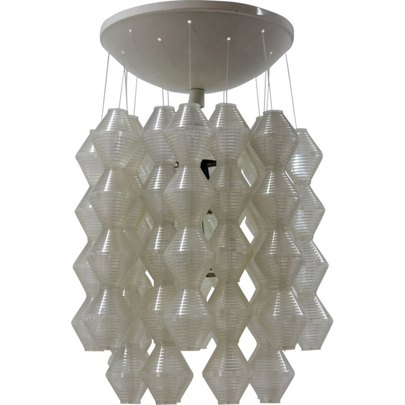 Pair vintage of  Napako pendants chandeliers, 1970