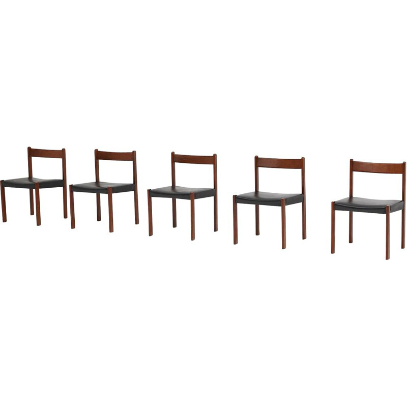 Set of 5 vintage dining chairs by Alfred Hendrickx for Belform, 1970s
