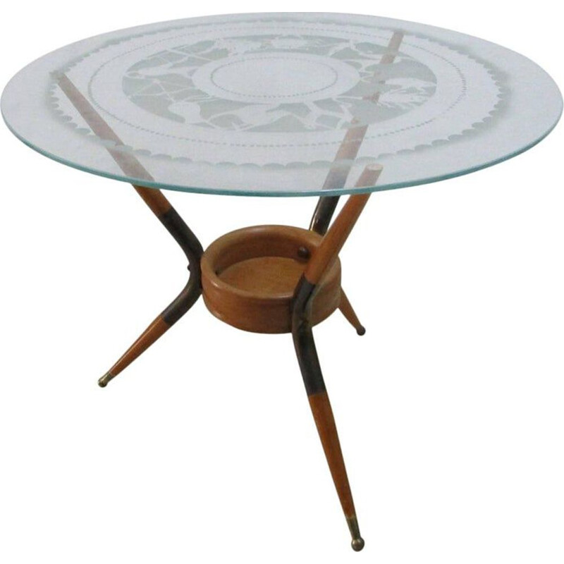 Vintage coffee table Paolo Buffa, 1940s
