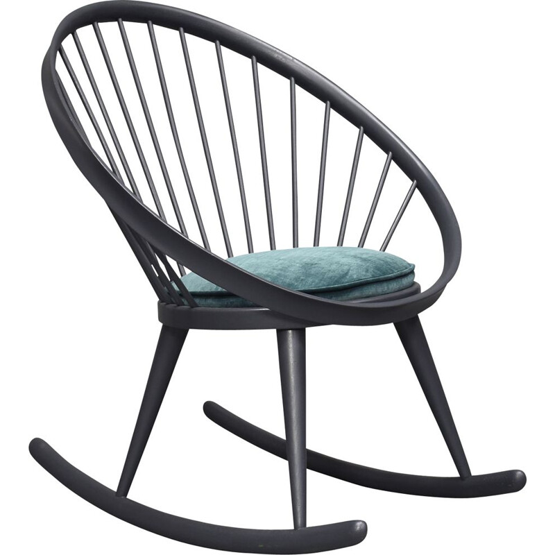 Vintage rocking chair Circle by yngve ekström Sweden, 1960