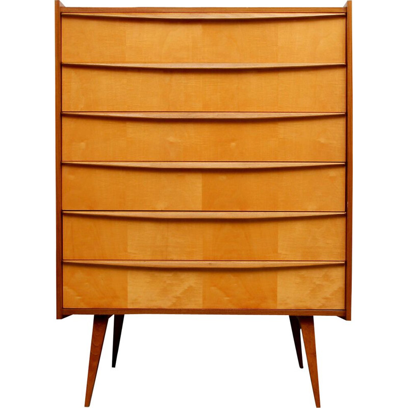 Vintage chest of drawers in walnut, 1950
