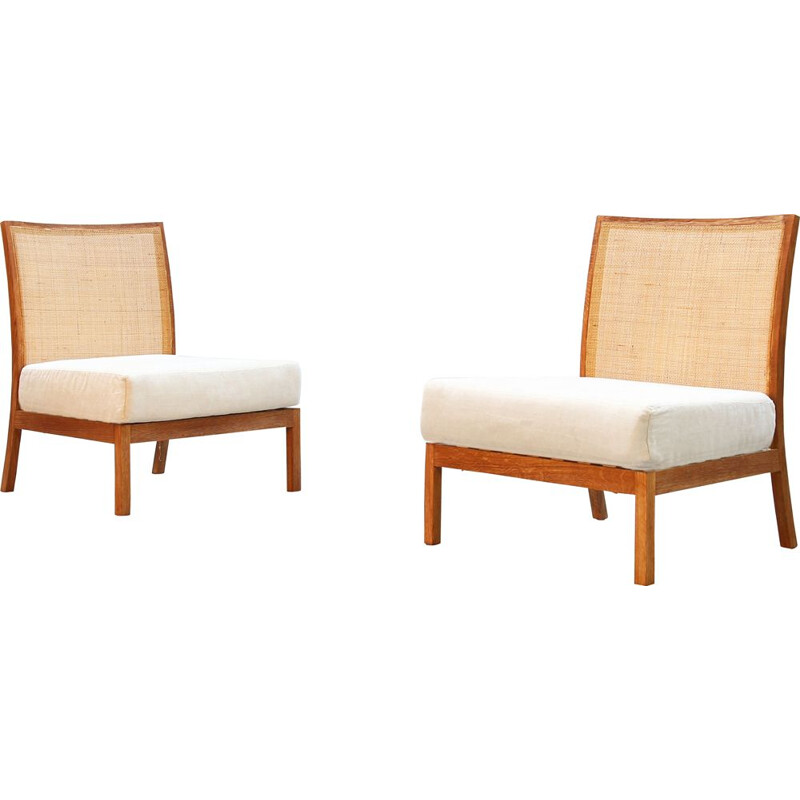 Pair of vintage Danish armchairs, 1980
