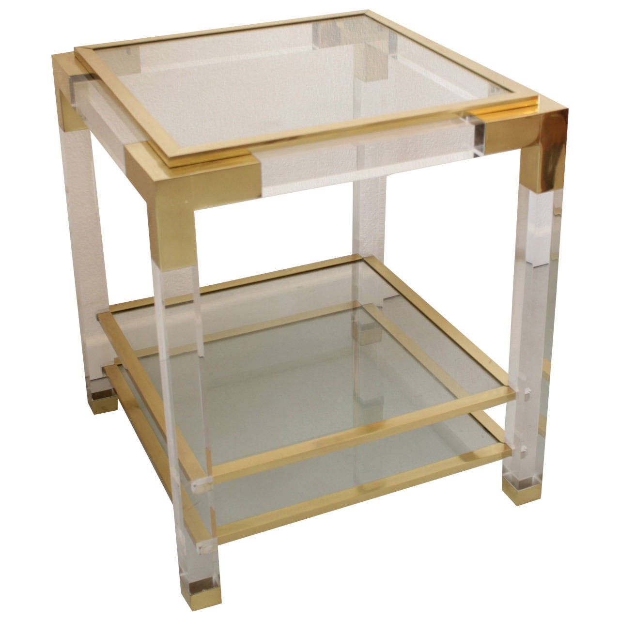 ... Plexiglass Side Table   1970s. SOLD