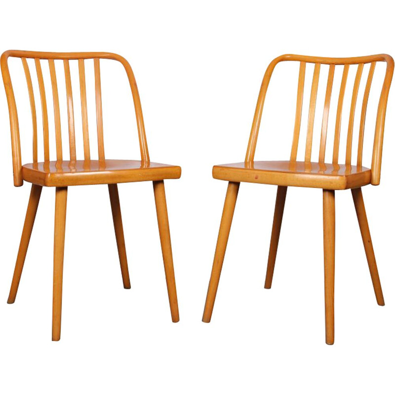 Pair of vintage chairs by Antonin Suman for Ton, 1960