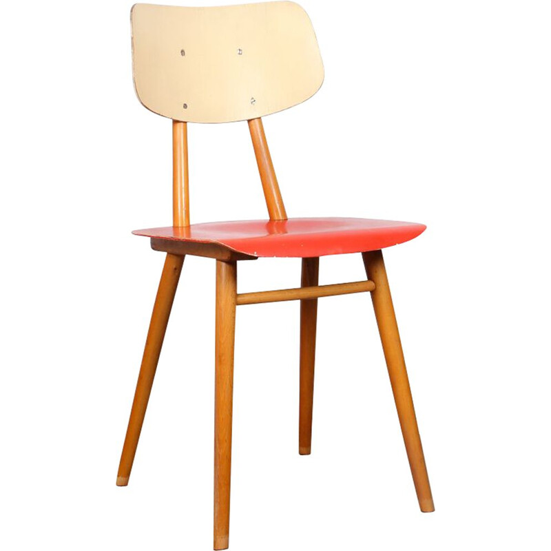 Vintage Czech chair for Ton, 1960