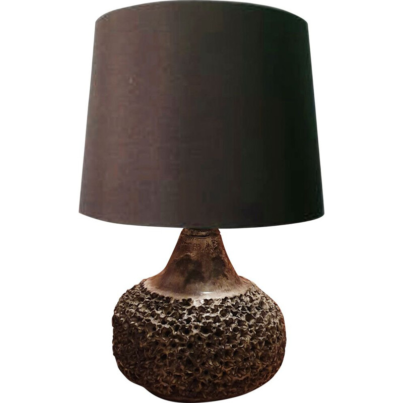 Vintage stoneware table lamp, 1960s